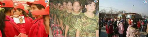 ウイグル人女性の強制移住